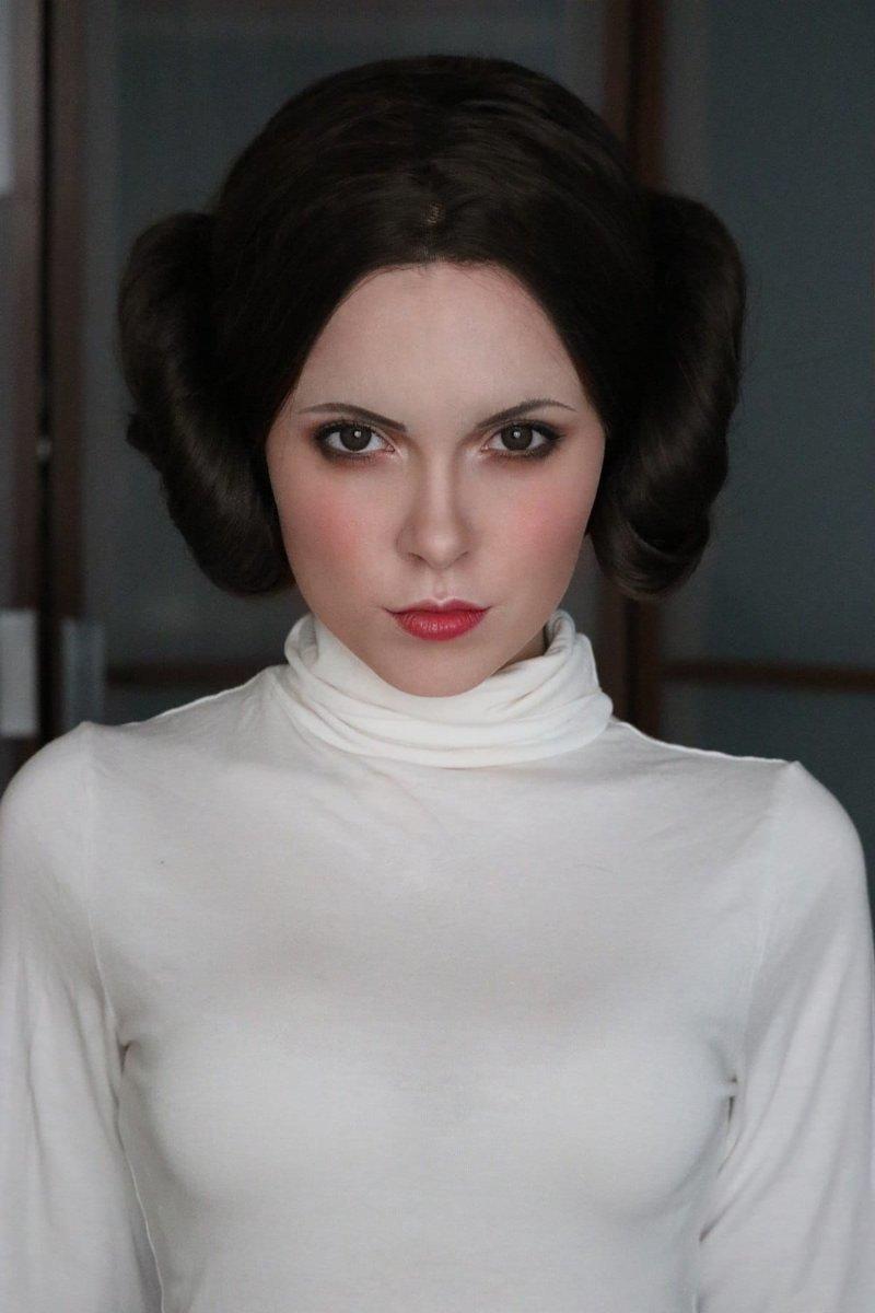 """Принцесса Лея, """"Звездные войны"""" визажист, девушка, косплееры, косплей, макияж, перевоплощения, персонажи, творчество"""