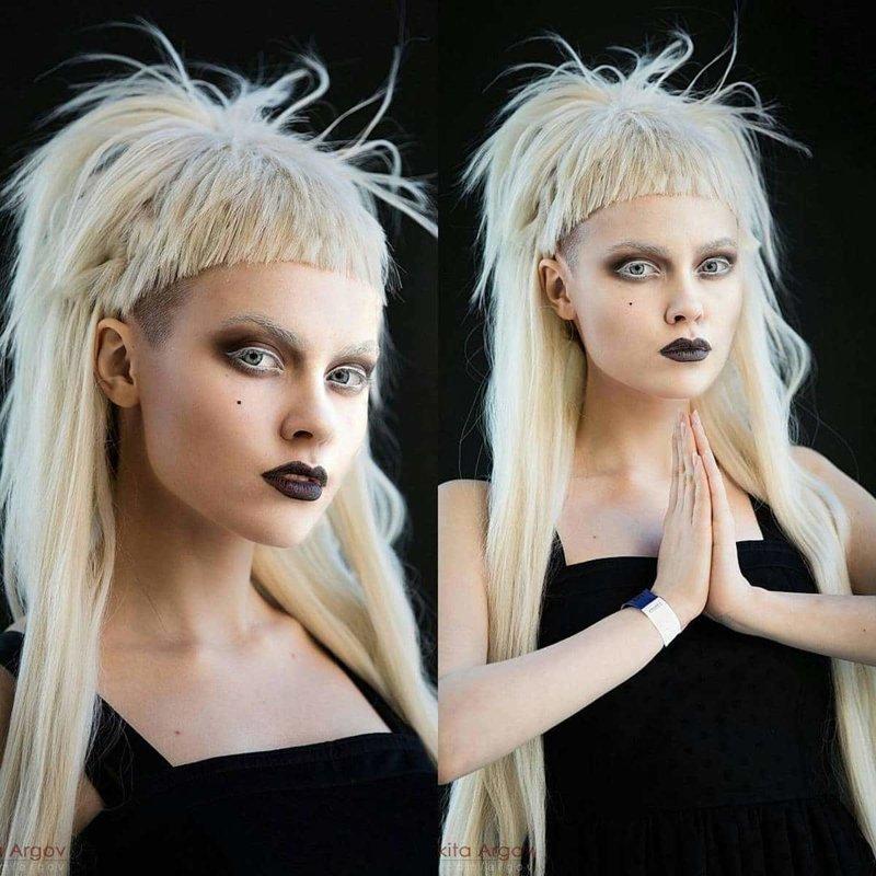 Йоланди Фиссер, группа Die Antwoord визажист, девушка, косплееры, косплей, макияж, перевоплощения, персонажи, творчество