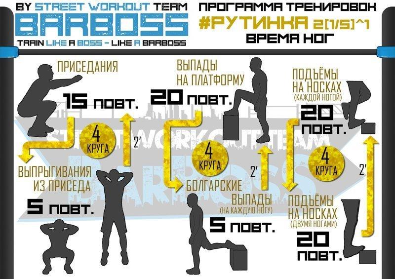 Неделя №2 Физкультура, калистеника, рутинка, тренировка, упражнения, фитнес