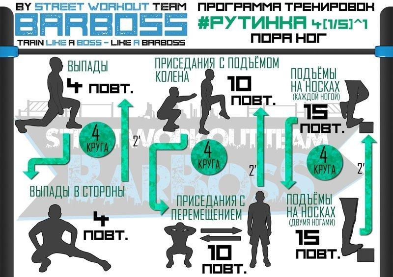 Неделя №4 Физкультура, калистеника, рутинка, тренировка, упражнения, фитнес