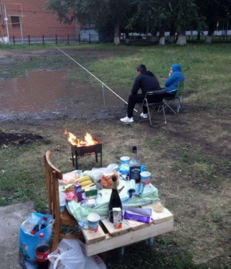Когда жёны не отпустили на рыбалку, а порыбачить хочется прикол, только в россии, умом россию не понять, юмор