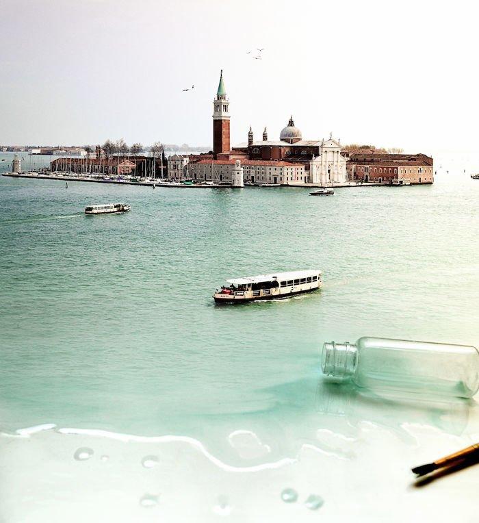 4. Венеция в бутылке Моника Карвальо, работа, сюрреализм, творчество, фотография, фотомонтаж