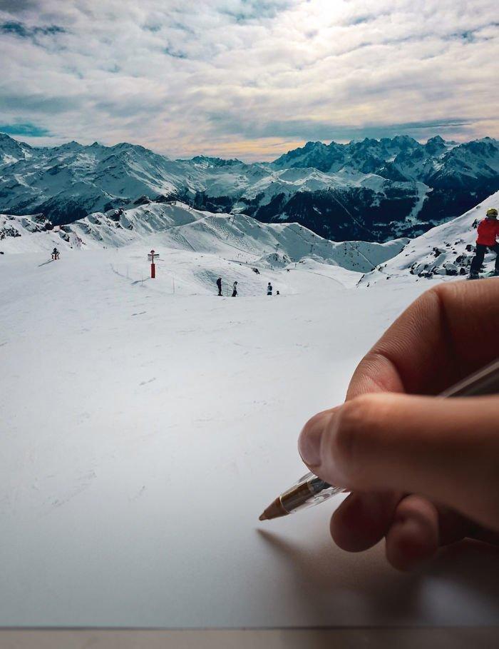 12. То ли бумага, то ли снег Моника Карвальо, работа, сюрреализм, творчество, фотография, фотомонтаж