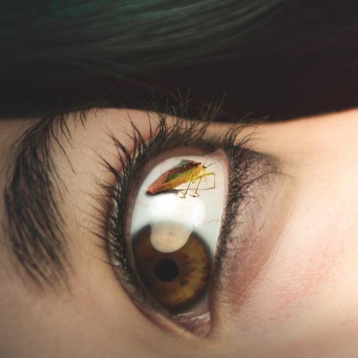 19. Соринка в глазу Моника Карвальо, работа, сюрреализм, творчество, фотография, фотомонтаж