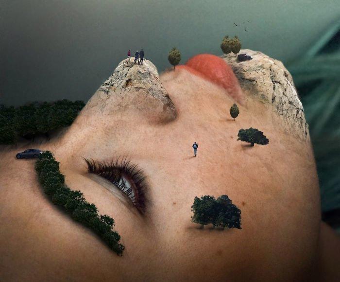"""1. Тот самый """"естественный макияж"""" Моника Карвальо, работа, сюрреализм, творчество, фотография, фотомонтаж"""