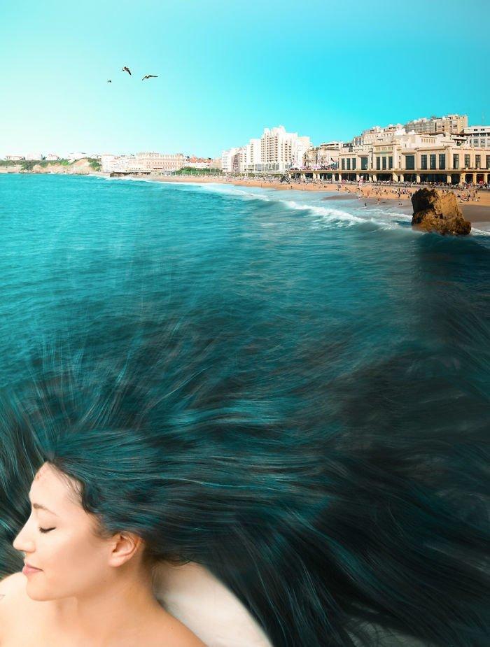 14. Лето в волосах Моника Карвальо, работа, сюрреализм, творчество, фотография, фотомонтаж