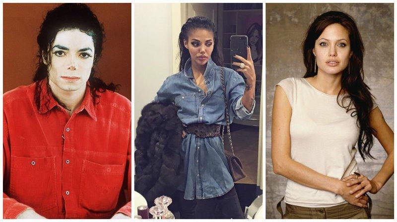 """""""Двойник"""" Анджелины Джоли больше похожа на Майкла Джексона ynews, анджелина джоли, знаменитости, интересное, майкл джексон, пластика, фото"""