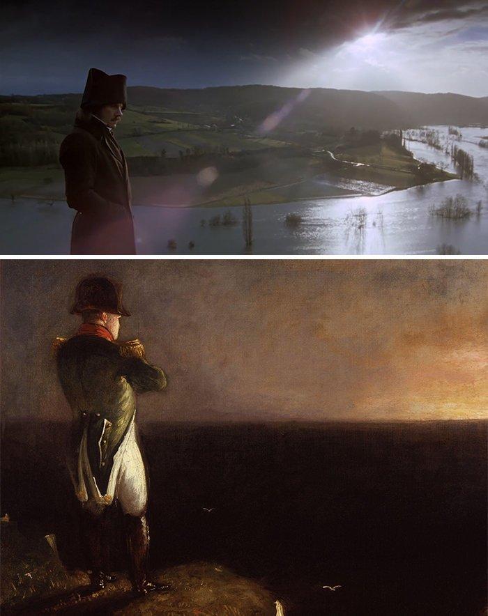 """17. Фильм: """"Дуэлянты"""" (Ридли Скотт, 1977). Картина: """"Наполеон Бонапарт"""" (Бенджамин Роберт Хейдон, 1842) воссоздание, воссоздание шедевров, живопись, картины, кино, копирование, повторение, сравнение"""