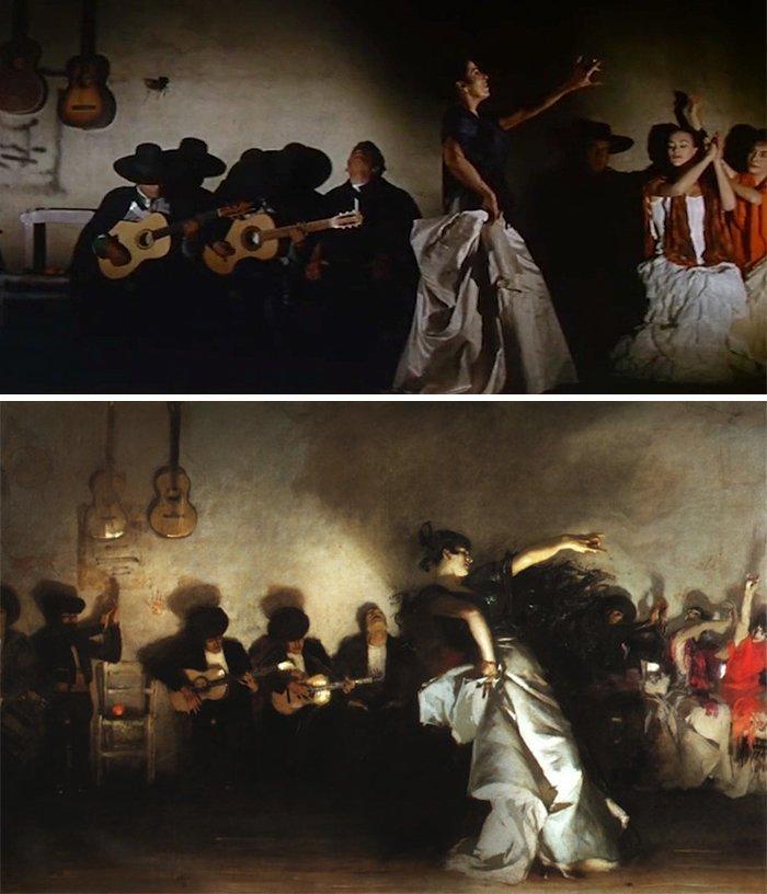 """2. Фильм: """"Аламо"""" (Джон Уэйн, 1960). Картина: """"Эль Халео"""" (Джон Сингер Сарджент, 1882) воссоздание, воссоздание шедевров, живопись, картины, кино, копирование, повторение, сравнение"""