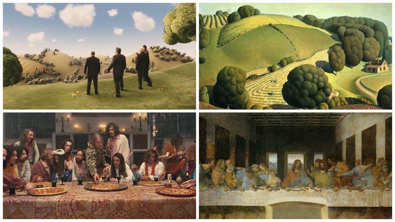Film Meets Art: 25 кинокадров, повторивших картины известных художников воссоздание, воссоздание шедевров, живопись, картины, кино, копирование, повторение, сравнение