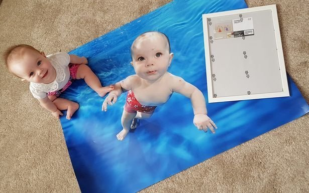 Заказывая фото дочки, мама чуть-чуть ошиблась с размерами. И что же она получила? Мамы и дети, забавно, заказ, много не мало, ошибка, сам себе дизайнер, смешно, фото