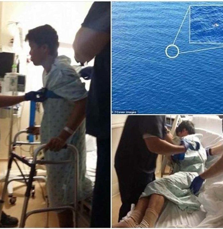Мужчине удалось выжить после того, как он без спасательного жилета провёл 22 часа в Атлантическом океане  в мире, выжить любой ценой, история, люди, океан, спасение