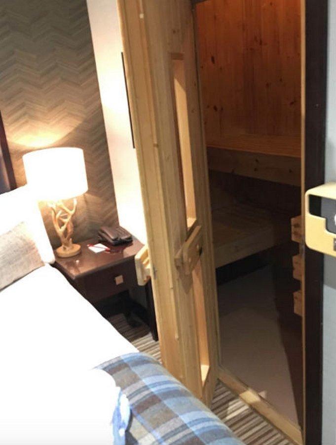 Ну и, конечно, сауны. Они везде - от гостиничного номера..  в мире, жизнь, идея, финляндия, это гениально
