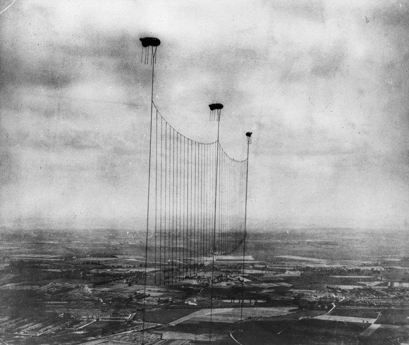 2. Защита Лондона от авиационных атак (аэростатов) , 1915 война, война в воздухе, война в небе, вторая мировая война, исторические фото, первая мировая война