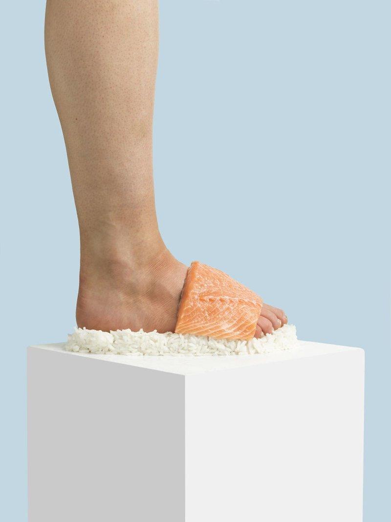 4. Суши art, дизайн, забавно, идеи, концепции, обувь, приколы, фотограф