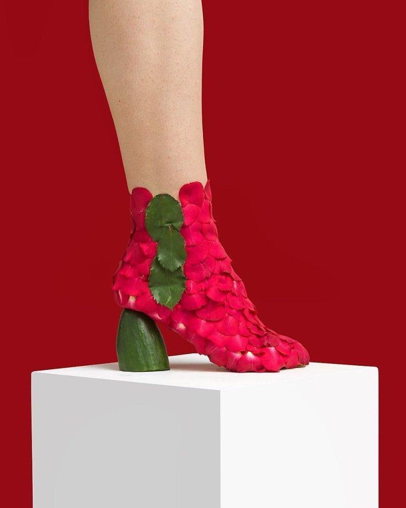 24. Роза art, дизайн, забавно, идеи, концепции, обувь, приколы, фотограф