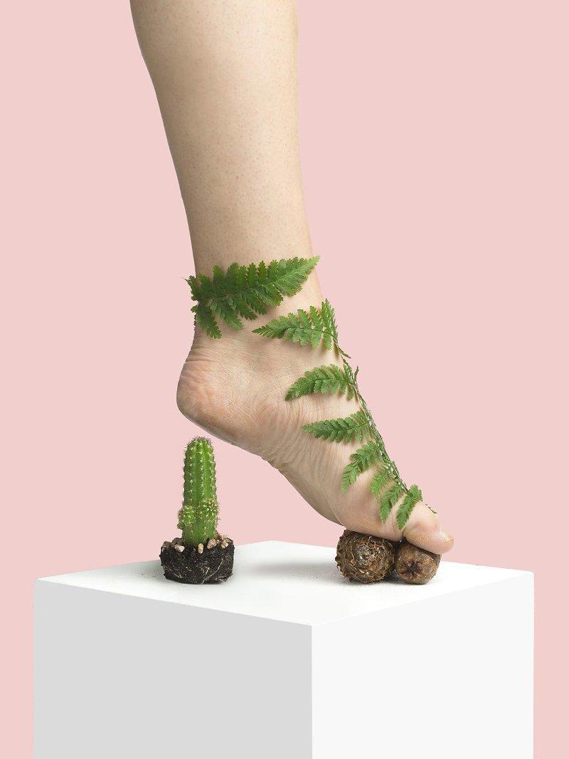 14. Лес art, дизайн, забавно, идеи, концепции, обувь, приколы, фотограф