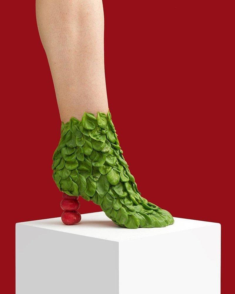 15. Базилик art, дизайн, забавно, идеи, концепции, обувь, приколы, фотограф