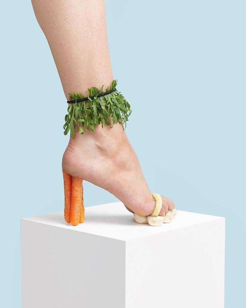 29. Морковка art, дизайн, забавно, идеи, концепции, обувь, приколы, фотограф