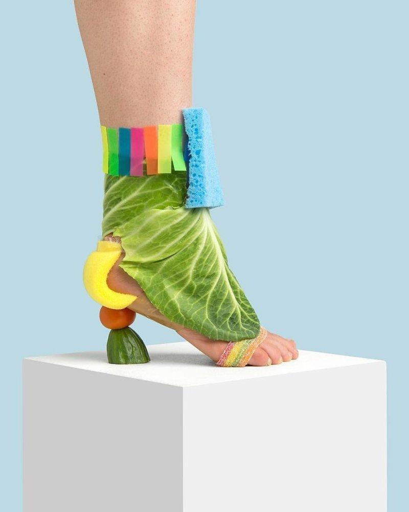 28. Эклектика art, дизайн, забавно, идеи, концепции, обувь, приколы, фотограф