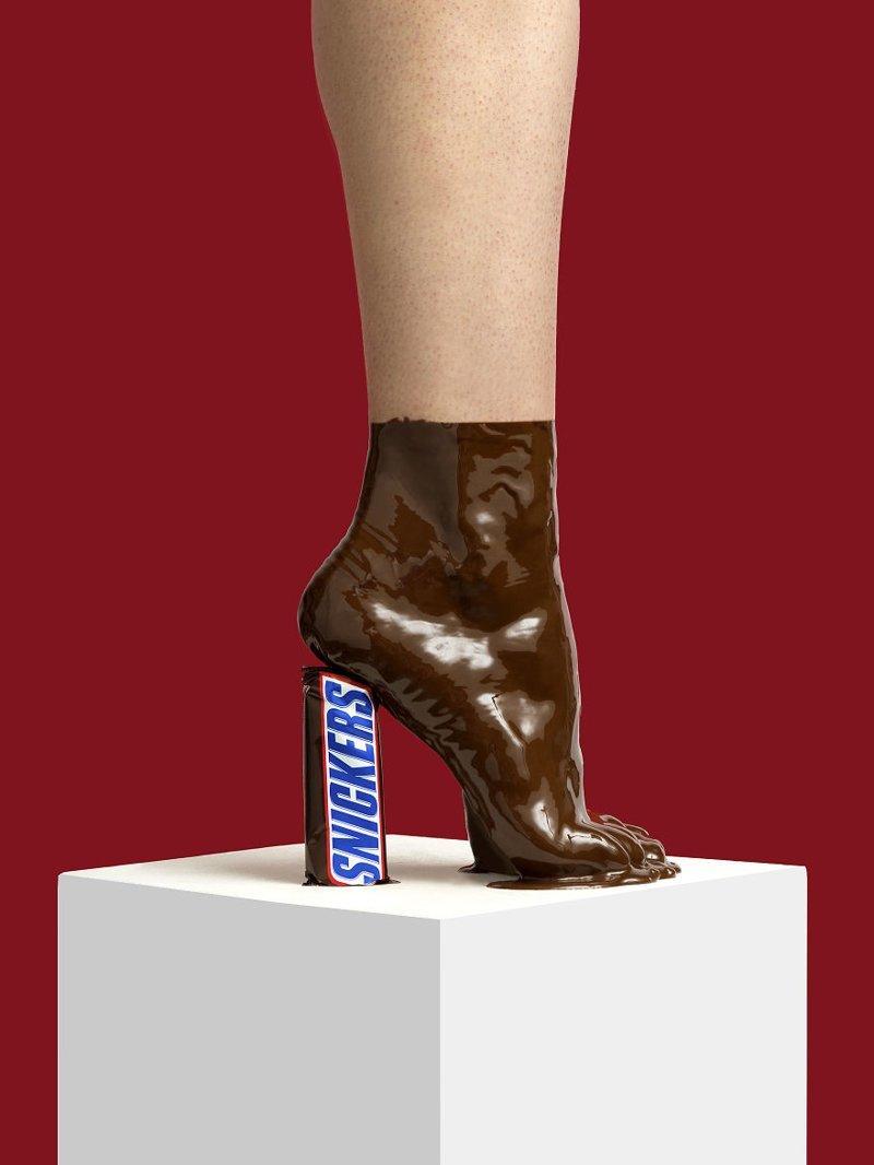 9. Шоколад art, дизайн, забавно, идеи, концепции, обувь, приколы, фотограф