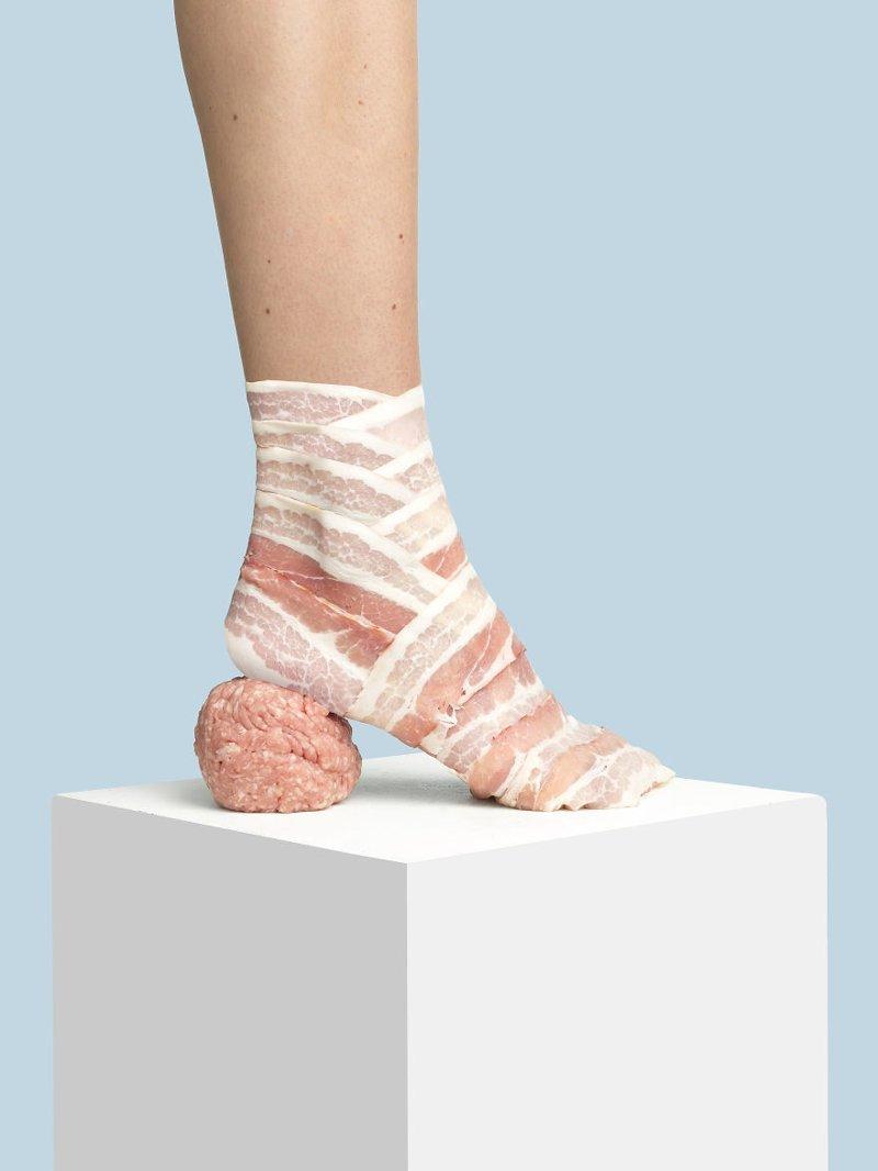 21. Бекон art, дизайн, забавно, идеи, концепции, обувь, приколы, фотограф