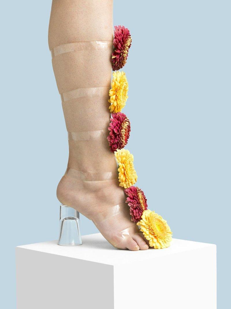 22. Цветы art, дизайн, забавно, идеи, концепции, обувь, приколы, фотограф