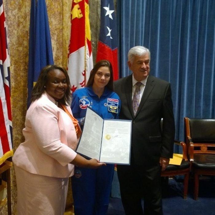 Алисса Карсон находит время не только на учебу и тренировки, но и на публичные выступления nasa, Марс Космос, астронавтка, космос, марс, миссия, сша, центр подготовки космонавтов