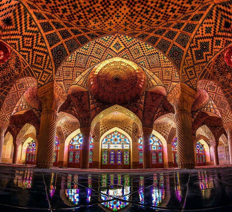 Мечеть Насир аль-Мульк, Шираз, Иран архитектура, история, красота, факты
