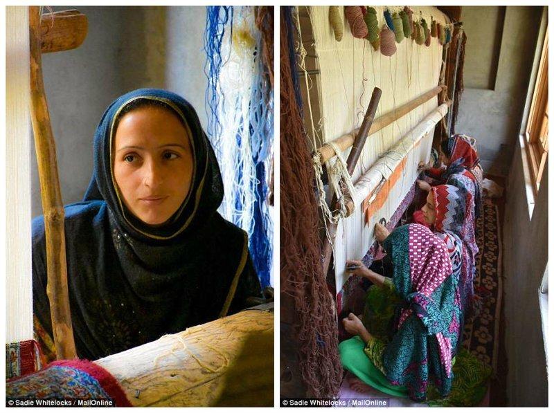 Эти ковры известны с 15 века. В них используются и шерстяная, и шелковая пряжа Кашмир, вышивка, индия, мастерство, палантин, ремесло, ткачество, ткачи