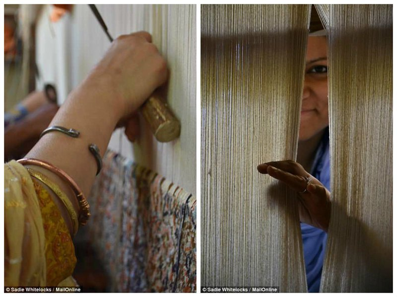Чтобы сделать один ковер, нужна команда из 4-5 ткачей и до 12 месяцев работы. Шелковые ковры стоят около 7 000 долларов, шерстяные - процентов на 40 дешевле Кашмир, вышивка, индия, мастерство, палантин, ремесло, ткачество, ткачи