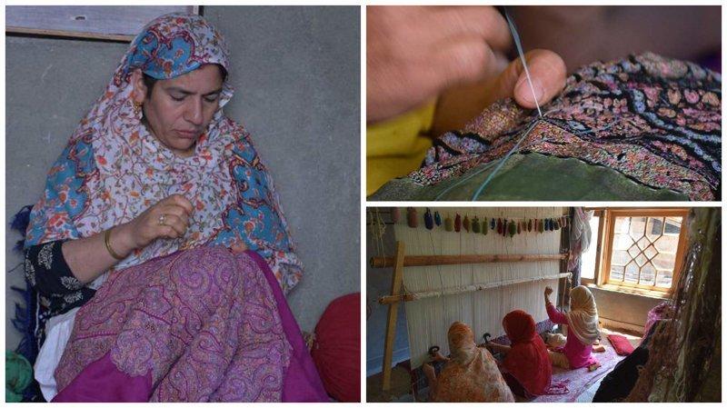 Кашмирские ткачи и их удивительное искусство Кашмир, вышивка, индия, мастерство, палантин, ремесло, ткачество, ткачи
