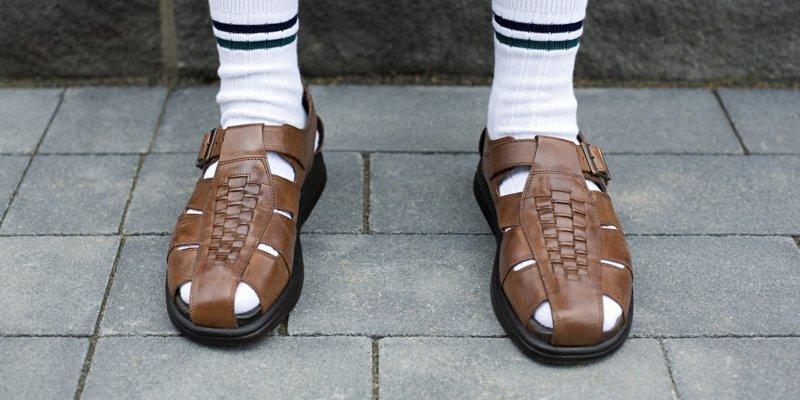 Сандалии с носками СССР, дизайн, мода, фэнш-дизайн