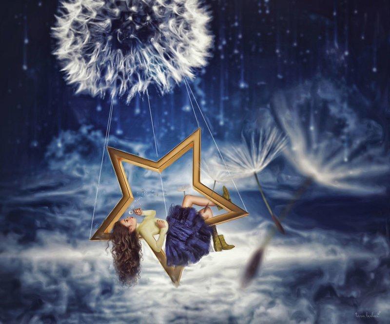 6. Wish Upon A Star - Загадать желание на звезду (Загадать заветное желание) английские, выражения, забавные картинки, идиомы, иллюстрации, перевод на русский, познавательно, фотограф