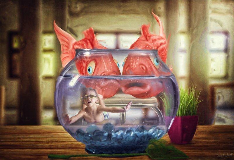 17. Fish Out Of Water - Рыба без воды (Не в своей тарелке) английские, выражения, забавные картинки, идиомы, иллюстрации, перевод на русский, познавательно, фотограф