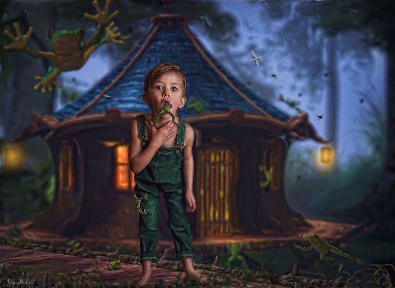 15. Frog In My Throat - Лягушка в горле (Ком в горле) английские, выражения, забавные картинки, идиомы, иллюстрации, перевод на русский, познавательно, фотограф