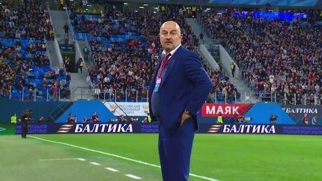 Что сказал Черчесов после матча с Хорватией Россия-Хорватия, Черчесов, интервью