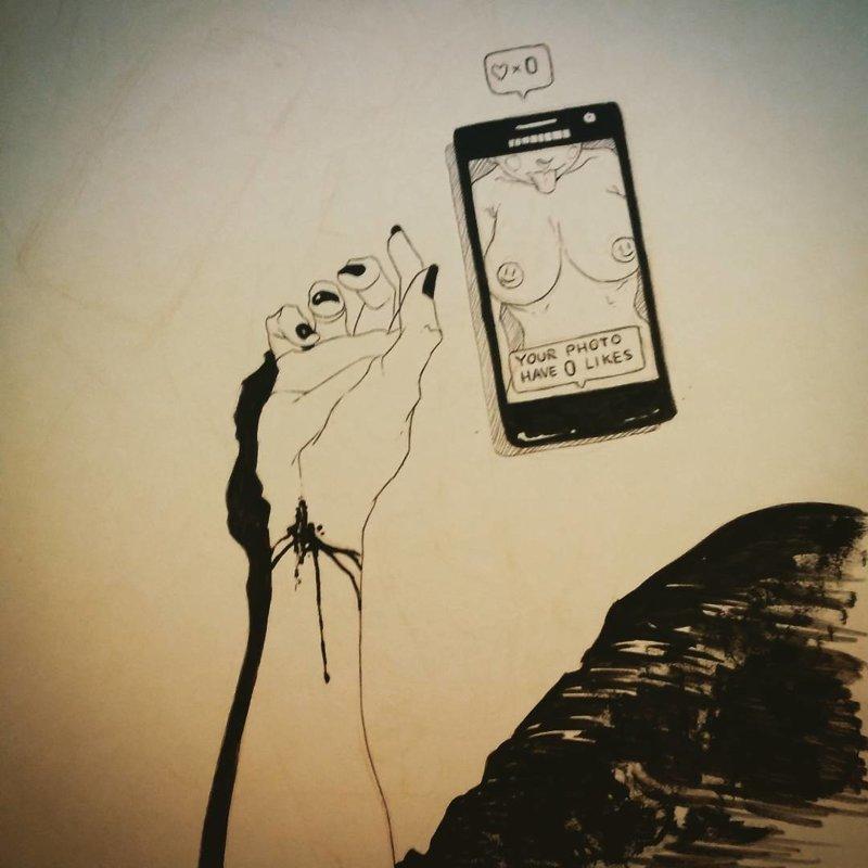 13. Утрировано, но все сюжеты взяты из жизни! Слишком много драмы Luis Quiles, жестокая правда, иллюстрации, рисунки, треш, художник