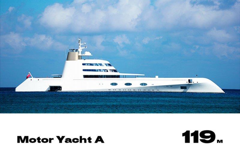 5. Motor Yacht A forbes, богатство, миллиардер, рейтинг, роскошная жизнь, россия, яхта