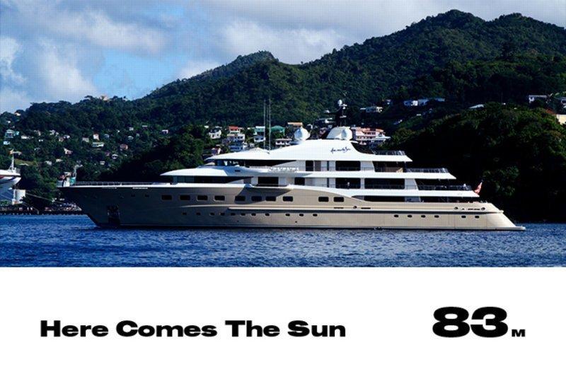 16. Here Comes The Sun forbes, богатство, миллиардер, рейтинг, роскошная жизнь, россия, яхта