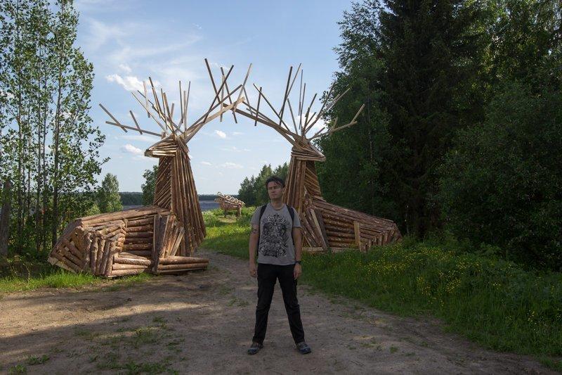 Архангельская область (скалы в Голубино) путешествия, факты, фото