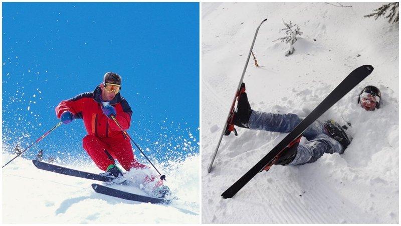 Когда решил научиться круто кататься на горных лыжах ожидание и реальность, прикол, юмор