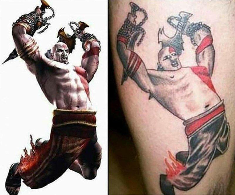 Надеюсь, татуировщика после такого не сильно покалечили ожидание и реальность, прикол, юмор
