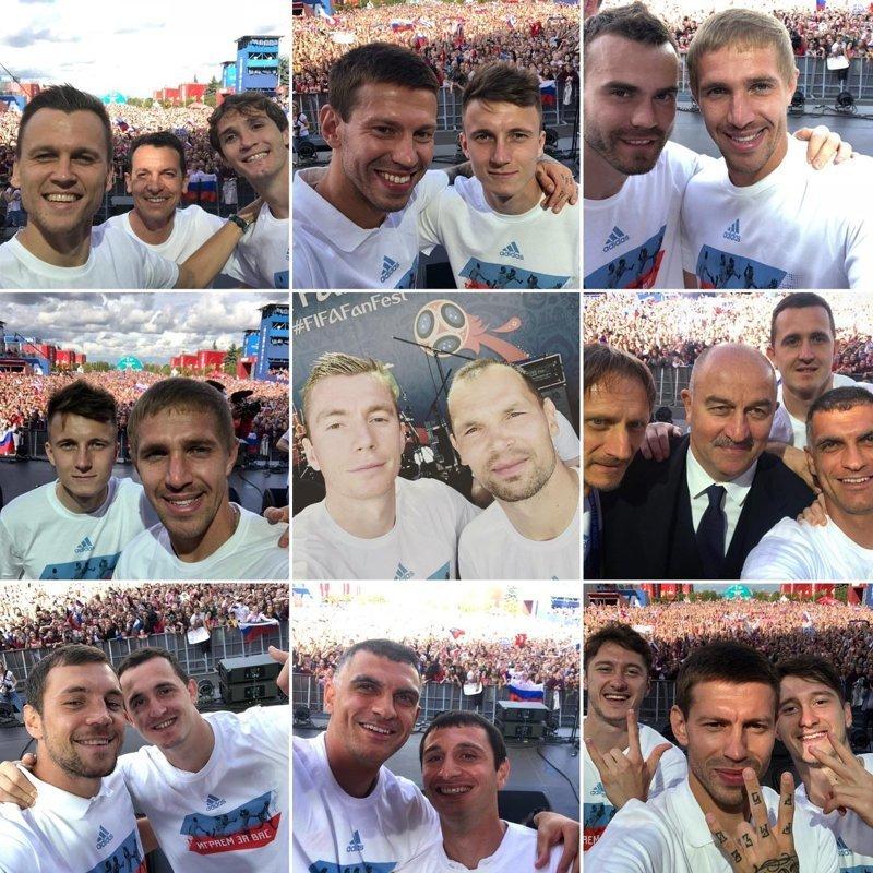 Фотографии, сделанные футболистами на встрече с фанатами болельщики, видео, встреча, москва, сборная россии, спорт, фанаты, футбол