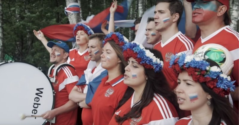 Российские футбольные болельщики записали видеоответ исландцам, спевшим «Калинку-малинку» видео, интересное, исландия, россия, спорт, футбол, чемпионат мира