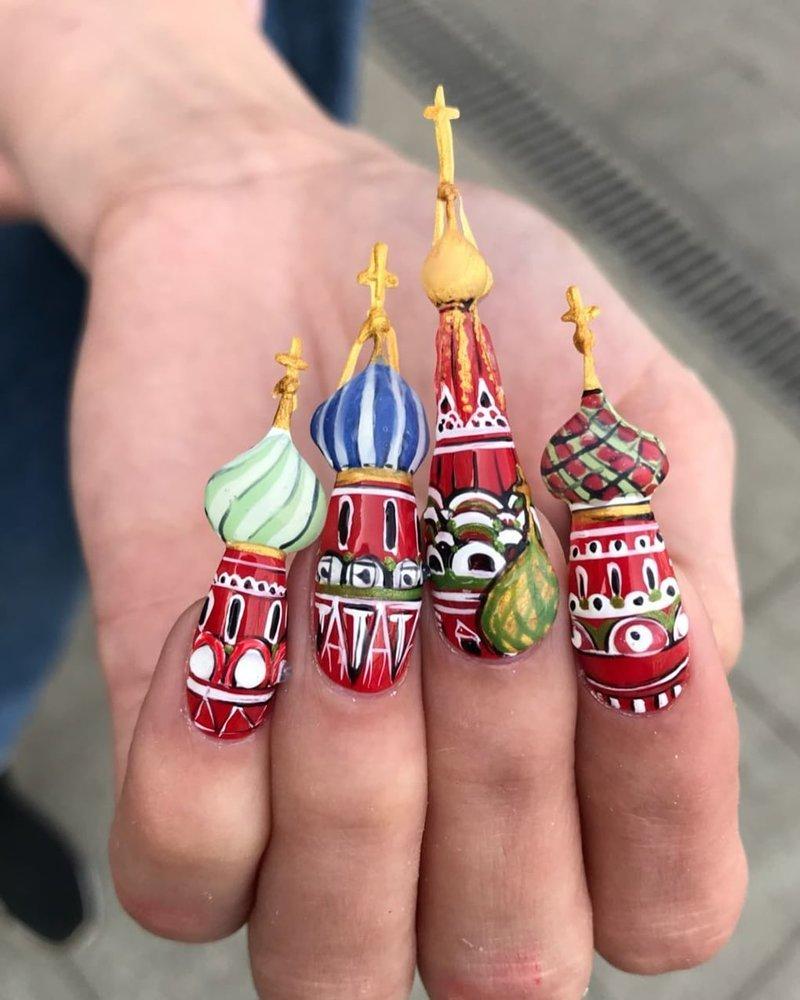 И простые достопримечательности, знакомые каждому интересное, искусство, креатив, маникюр, мастерство, россия, украшение