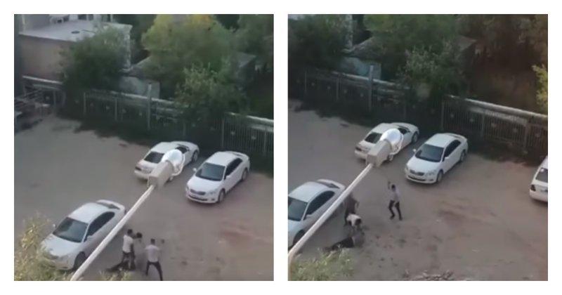 Таксиста избили камнями, чтобы не платить за проезд: видео ynews, драка, происшествие, такси, якутск