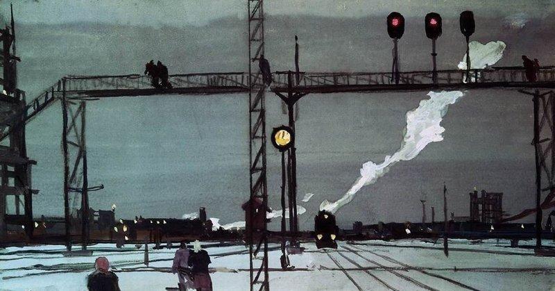 Железнодорожная ностальгия: поезда и рельсы, какими их увидели живописцы прошлого железная дорога, искусство, картина, поезд, рельсы, рисунок, эстетика