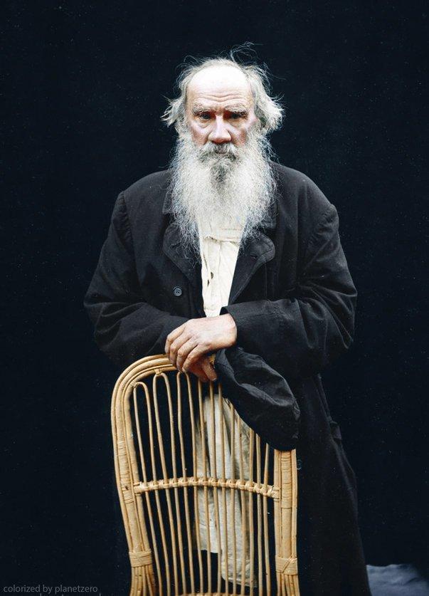 Л.Н.Толстой colorized by planetzero, planetzerocolor, колоризация, цветные фотографии начала 20 века