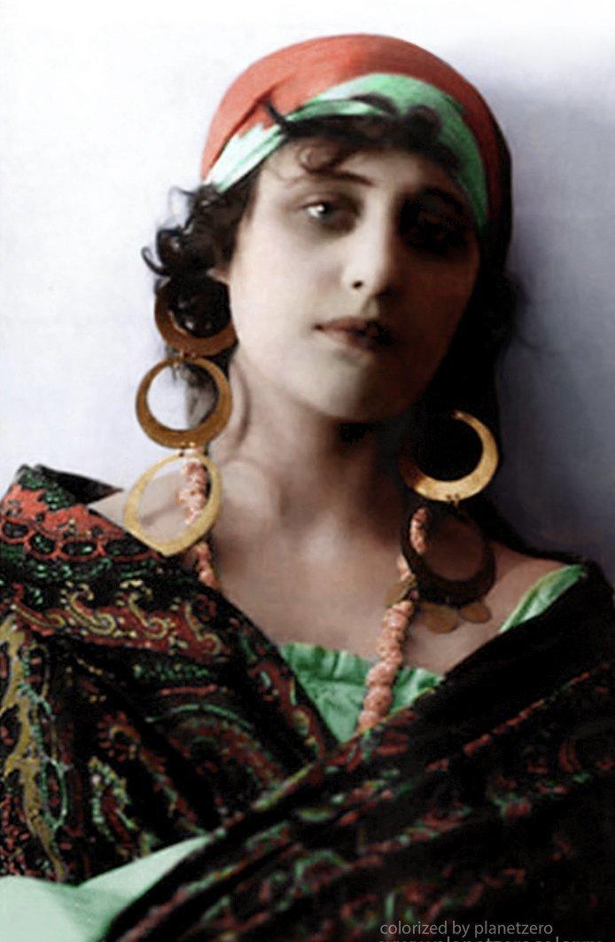 Вера Холодная 1916г. colorized by planetzero, planetzerocolor, колоризация, цветные фотографии начала 20 века